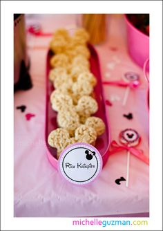 minnie mouse rice krispie treats