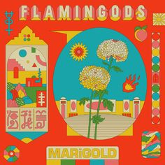 Marigold, by Flamingods Graphic Design Posters, Graphic Design Inspiration, Surface Art, Flat Illustration, Wall Collage, Wall Art, Marigold, Art Inspo, Framed Art