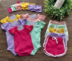 Luau Outfits, Girls Summer Outfits, Retro Outfits, Summer Girls, Toddler Outfits, Girl Outfits, Baby Girl Romper, Baby Girl Gifts, Baby Girl Boutique