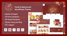 #bakery #bootstrap #burger #cafe #coffee shop #cooking #dining #envato #food #free nulled theme #html5 #italian restaurant #menu #pizza #recipes #reservation #restaurant #restaurant theme #restaurant wordpress #site templates #theme forest #wordpress free #wordpress templates #wordpress theme Click For Demo & DownloadDeliciko Restaurant Theme Deliciko is a Creative, Modern and Professional Restaurant WordPress Theme. The theme is perfect for Restaurants, Fast Food, Seafood Restaurant, Rec...