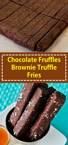 Chocolate Fruffles Brownie Truffle Fries On the off chance that you love chocolate you are going to need to make these Brownie Truffle Fries, likewise called Chocolate Fruffles! Chocolate Cake Recipe From Box, Gluten Free Chocolate Cake, Chocolate Desserts, Candy Recipes, Brownie Recipes, Cookie Recipes, Dessert Recipes, Dessert Ideas, Truffle Fries