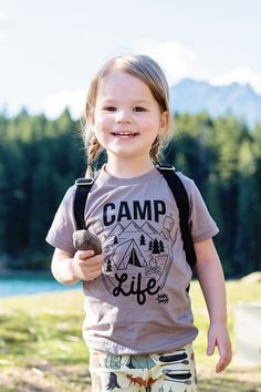 "What a wonderful collaboration! Jolly Good Apparel tshirt + Zion's Den handmade ""Camper"" pattern leggings // Click link below to check it out // Shirt starting from $20.00 // http://www.jollygoodapparel.com/collections/adventure-collection/products/jolly-camper"