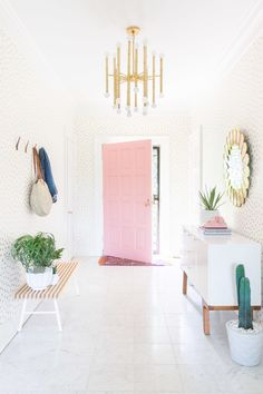 Every home deserves a little wow moment! From bold doors to rosy wallpaper, here are five ways to get risky with your new home update.