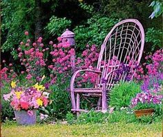 I could sit there, with a huge sun hat and listen to the bees buzzing and have not a care in the world!