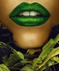 I haven't tried green lips personally, but I have a few friends it looks stunning on. Lipstick Colors, Lip Colors, Green Colors, Green Lipstick, Lipstick Style, Lipstick Art, Mean Green, Go Green, Pretty Green