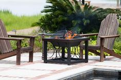 Hammer Tone Bronze Finish Tail Table Fire Pit