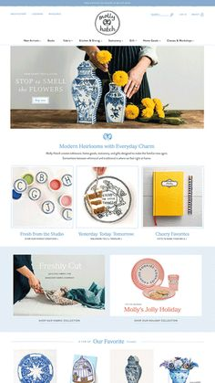 a before and after of the Shopify website transformation we did for ceramic artist Molly Hatch App Landing Page, Ecommerce Web Design, Jolly Holiday, Website Design Inspiration, Yesterday And Today, Showcase Design, Selling Art, Ceramic Artists