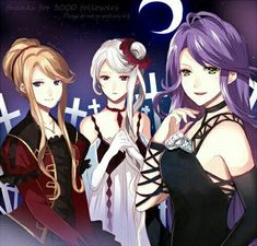 Beatrix,Christa and Bitch-san (Cordelia). believe me they're mother of six super hotties, where dem being vampire makes it even more awesome