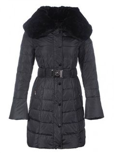 Moncler 2013 Women Long Down Coats Black Single-breasted [2899729] - 167.20 :