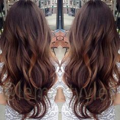 Brown/ light brown balayage with some red tones