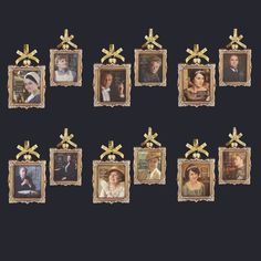 "4.5"" DOWNTON ABBEY GLASS FRAME #DOWNTONABBYORNAMENTS"
