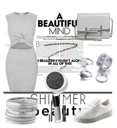 """""""Shimmer Shine"""" by bebe-gawddess ❤ liked on Polyvore featuring River Island, Puma, Tod's, Avenue, JustFab, Royale, Chantecaille, Charlotte Tilbury and Bare Escentuals"""