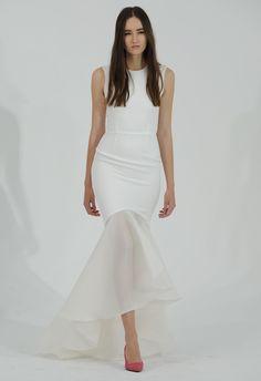 Sheer Mermaid Wedding Dress | Houghton Bride Fall/Winter 2015 | Blog.theknot.com