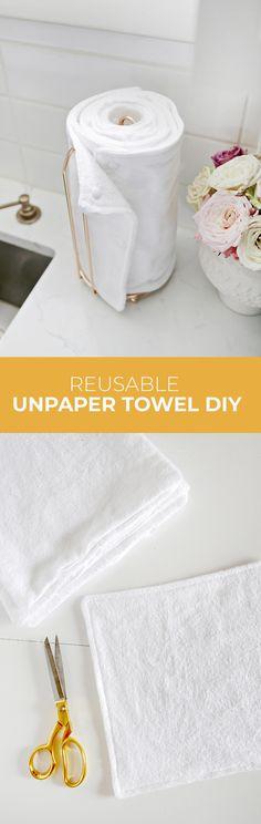 Unpaper Towel DIY (They Are Reuseable!) – A Beautiful Mess #zerowaste