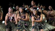 Te Kapa Haka o Te Whanau a Apanui perform in the Te Matatini National Kapa Haka Festival, New Zealand