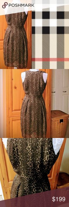 """AUTHENTIC BURBERRY SILK ANIMAL PRINT DRESS Simply stunning! This dress is absolutely breathtaking, in like new condition. 100% silk. Slight empire waist. Zippered back, sleeveless, lined. Worn once! Hidden Burberry logo found in the pattern. Approximately 40""""L Shoulder to top of empire stitch is 13"""" Laying flat, from armpit to armpit is 15"""". Comes from a smoke free home. Bundle & save! Burberry Dresses Midi"""