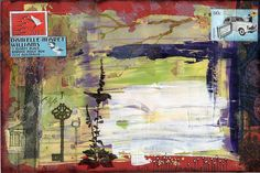 Danielle Maret - mixed media mail art envelope 179 - Beautiful