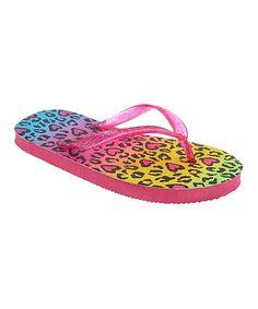 Pink Leopard Flip-Flop