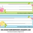 These adorable name plates are part of my Whimsical Birdies theme. I have other items with this theme in my store. Simply print onto cardstock, wri...