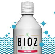Projeto de identidade desenvolvido para  a linha de produtos Bioz Green.  