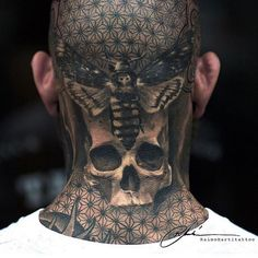 25 Job-Stopping Tattoos for People Who DGAF – Inspirational Tattoos Forarm Tattoos, Head Tattoos, Skull Tattoos, Life Tattoos, Body Art Tattoos, Sleeve Tattoos, Neck Tattoo For Guys, Back Of Neck Tattoo, Cool Tattoos For Guys