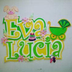#foami #gomaeva #nombres #habitacion #infantil #deco #decoracion # niñas #babygirl Baby Shawer, Teaching Tools, Wooden Signs, Presents, Templates, Crafty, Photo And Video, Handmade, Country