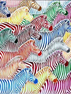 "Saatchi Online Artist: Poggetti Christian; Acrylic, 2011, Painting ""zebra 11004"""