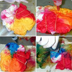 How to create a spiral tie dye pattern