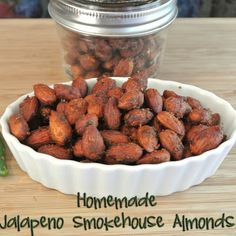 One of my husbands favorite things to eat is blue diamonds jalapeno smokehouse almonds. There are a lot less healthy things to eat out t. Gluten Free Recipes Side Dishes, Nut Recipes, Almond Recipes, Snack Recipes, Cooking Recipes, Jalapeno Recipes, Smoker Recipes, Yummy Recipes, Smoker Cooking