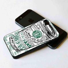 Starbucks coffee sketch draw iPhone 5 BLACK case