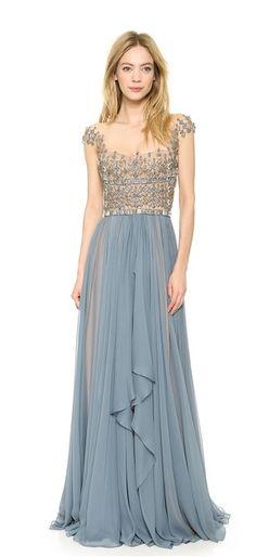 Dusty blue ballgown