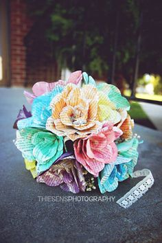 Paper Bridal Bouquet by OwnItArt on Etsy, $25.00