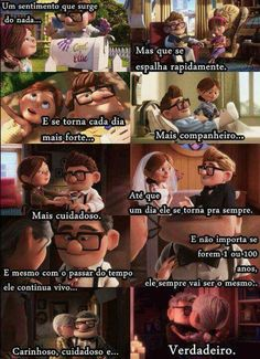 Amor mio Up The Movie, Disney Princess Frozen, Disney Up, Inspirational Phrases, Couple Relationship, Marriage Tips, Disney Quotes, Just Smile, Family Love