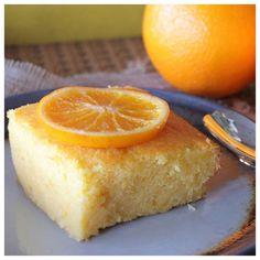 Πορτοκαλόπιτα-wet semolina orange cake