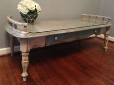 Darling Distressed Coffee Table $185 - Silver Spring http://furnishly.com/catalog/product/view/id/4280/s/darling-distressed-coffee-table/