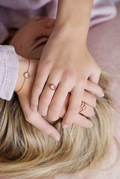"""Armbänder - Armband """"Rosenquarz"""",längenverstellbare Armkette - ein Designerstück von lebenslustiger-com bei DaWanda"""