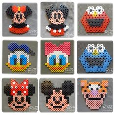 Mickey Mouse & Friends perler beads by randbworkshop