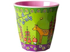 Cup with woodland animal print by RICE