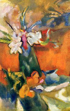 The Vase of Flowers, Jules Pascin - 1918
