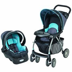 Evenflo Journey 300 Stroller Unisex 35 Car Seat Koi Infant Travel System New $120