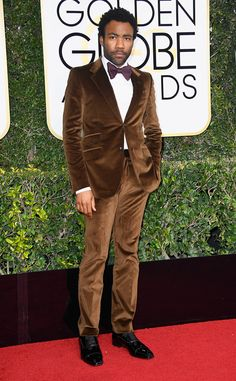 Donald Glover in Gucci at the 74th Annual Golden Globe Awards at The Beverly Hilton Hotel on January 8, 2017 in Beverly Hills, California.