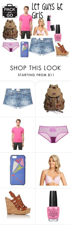 """""""lovely labor day lazing"""" by genderschmender ❤ liked on Polyvore featuring Current/Elliott, Polo Ralph Lauren, Victoria's Secret, Kate Spade, PERFECTS AUSTRALIA, Barneys New York, OPI, Laura Geller and genderfluid"""