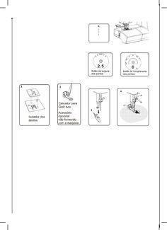 Manual - Elgin Genius Plus JX 4035 Máquina de costura Maquina Elgin Genius, 1, Diagram, Craft, Manualidades, Amigurumi