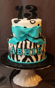 13th Birthday : 6 Cute 13th Birthday Cakes For Girls | Cake Decoration Idea | Hanbly.com