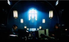 We're Featured: Gotham!  Primelite Mfg's celebrity spotlight continues to shine as we were once again featured on the TV show Gotham! We're also fortunate to have a screen shot showing our globes making a special appearance in scenes inside the Gotham police station. If you look in the background you can see our humble #284-3 GNO's helping to light the way for Gotham's finest. #lighting #gotham #gothamtv #globelighting #globe