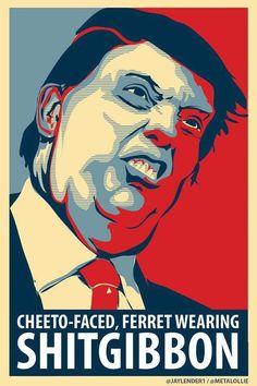 Anti-Trump art by @jaylender1 /@metalollie