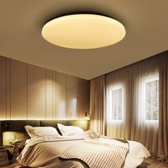 Ceiling Lights Ceiling Lights & Fans Modern Ceiling Lights Ac 220v 240v 12w 24w 36w 48w Led Ceiling Light Color Shell Remote Control Panel Lamp Fixture Living Room Rich And Magnificent