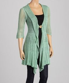 Look what I found on #zulily! Mint Single-Button Cardigan #zulilyfinds