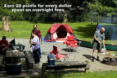 Earn loyalty points for overnight stays at Virginia State Parks