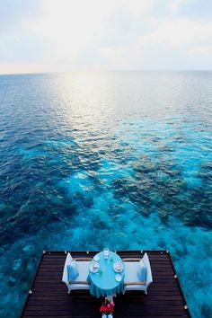 Dine Over the Water in the Maldives